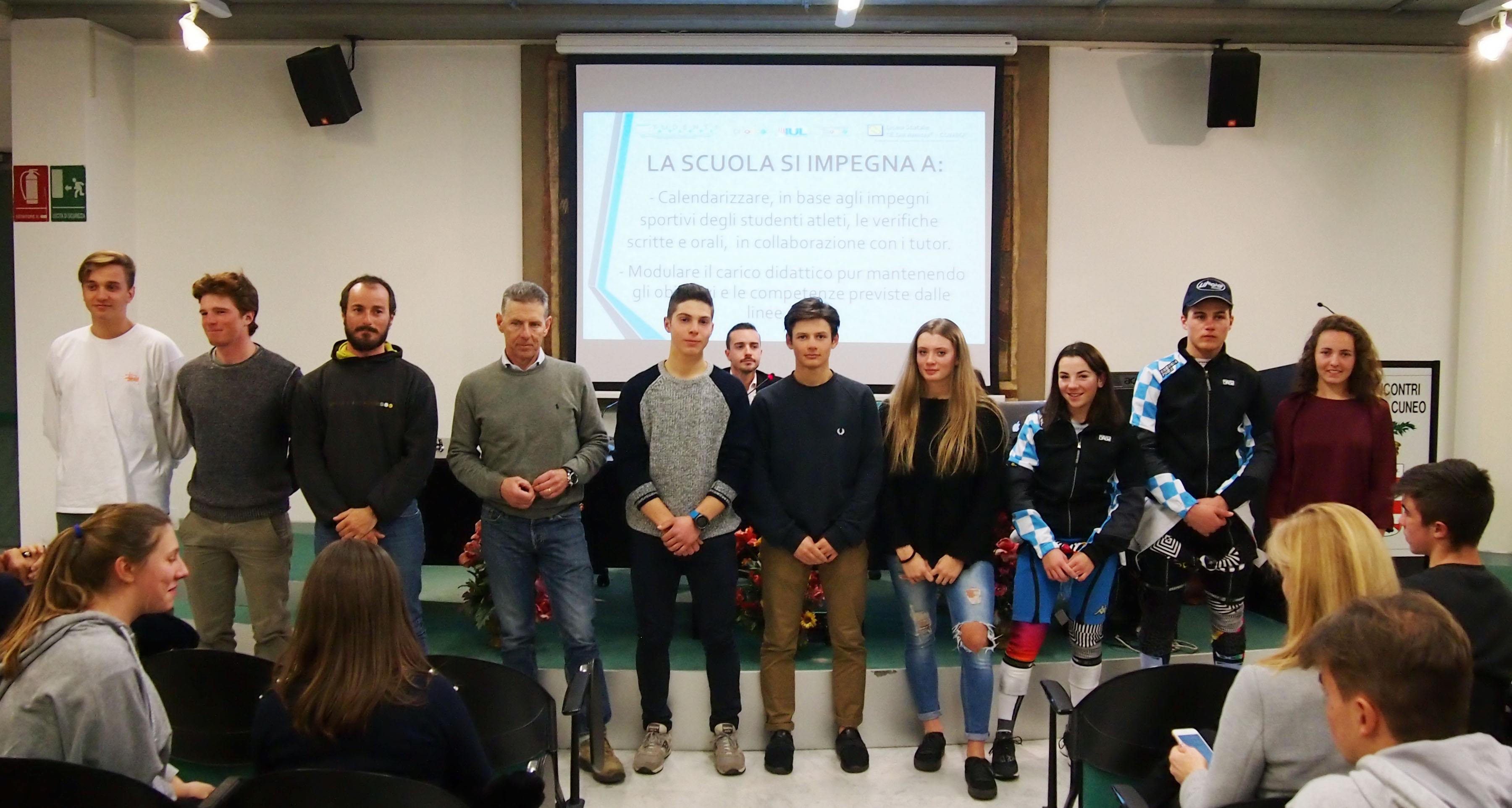 """Gli studenti della sezione limonese inseriti nel progetto Miur-Coni """"Studente-atleta di alto livello"""""""