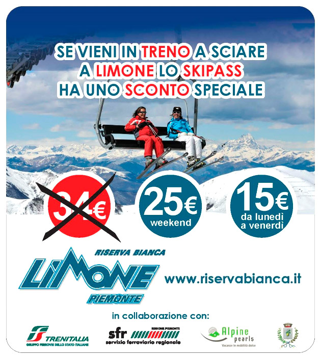 Andare a sciare a Limone in treno conviene!