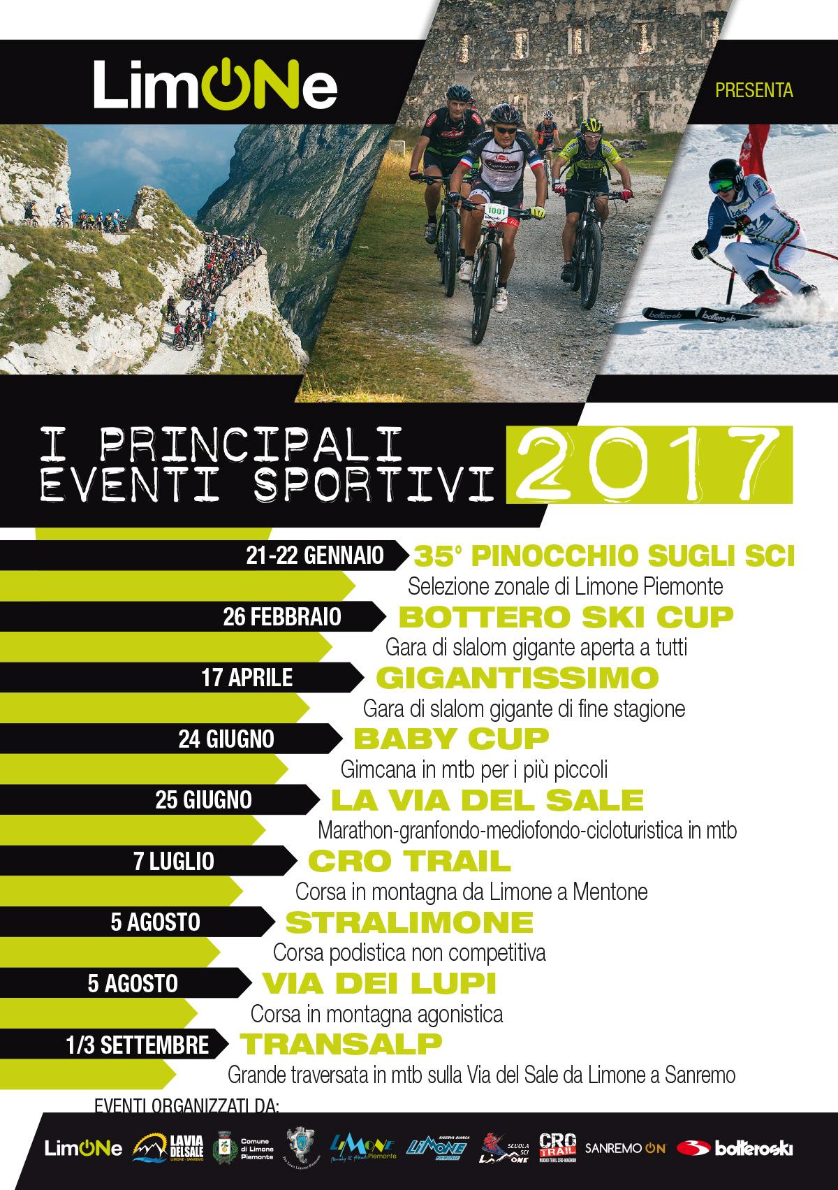 Calendario Sportivo.Calendario Eventi Sportivi 2017 Limone On