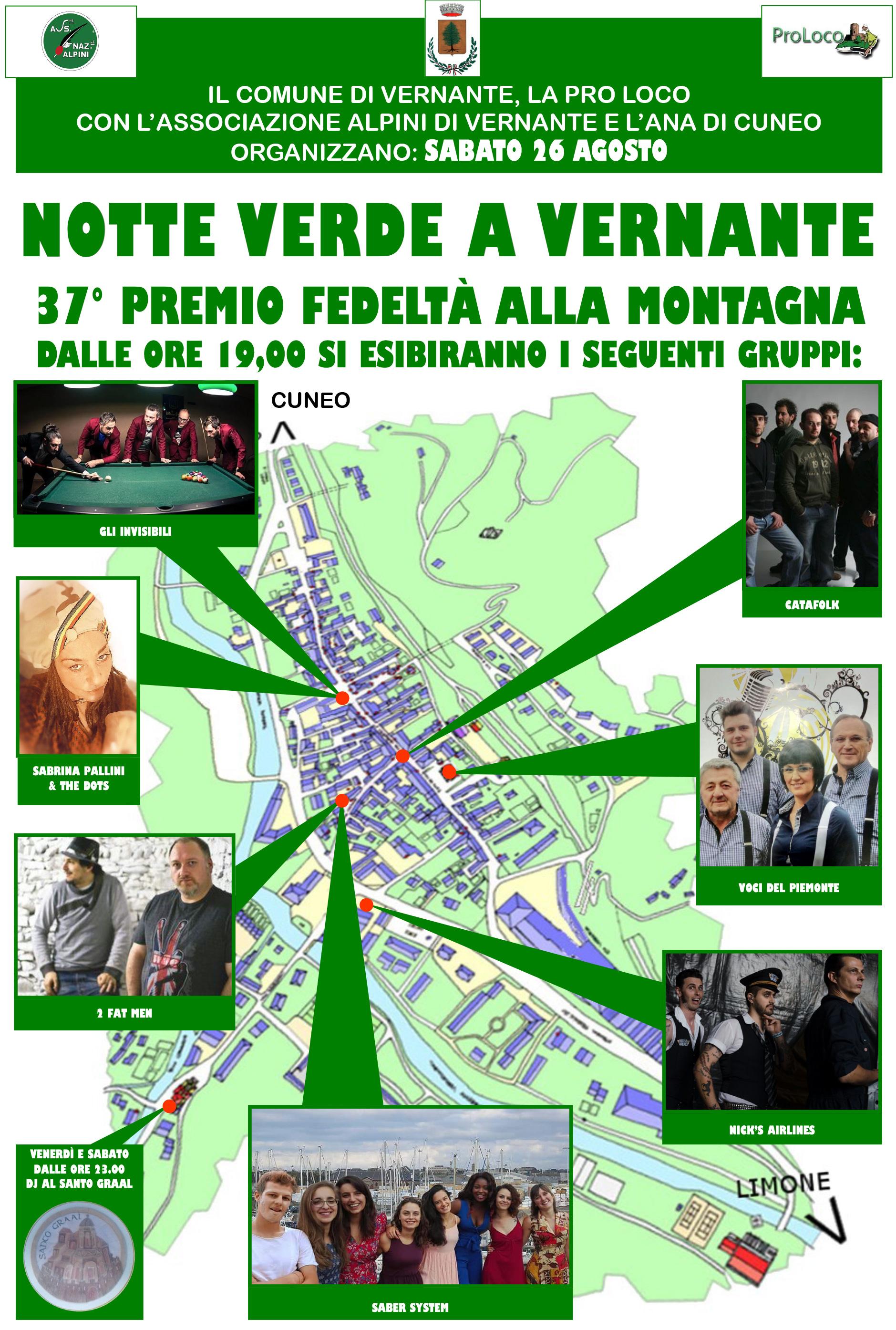 Appuntamento a Vernante il 26 agosto con la Notte Verde
