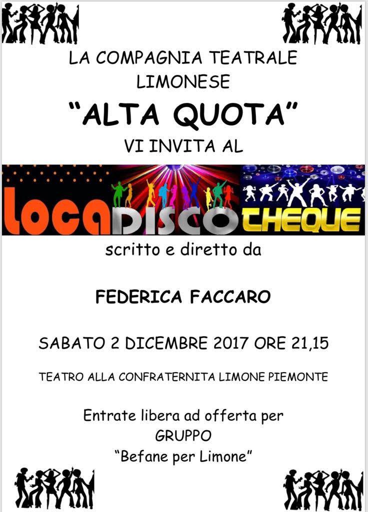 Loca Disco Cheque il nuovo spettacolo della compagnia Alta Quota debutta a Limone